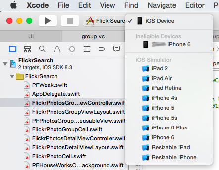 Xcode Ineligible Device Post 03 15 2015 Img 1